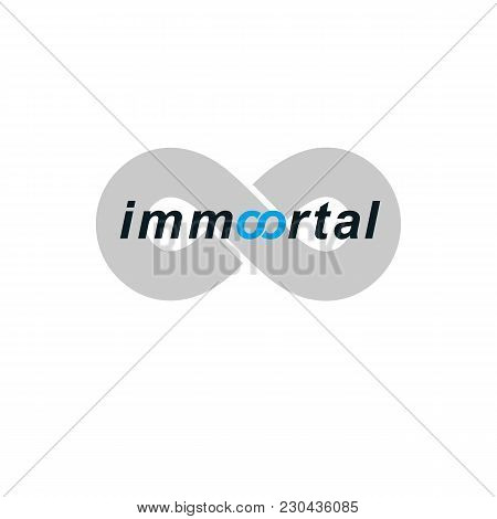 Immortal Lettering Logo Isolated On White, Conceptual Sign