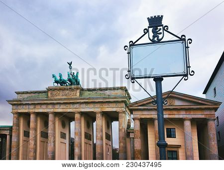 Brandenburg Gate At The Center Of Berlin, Germany