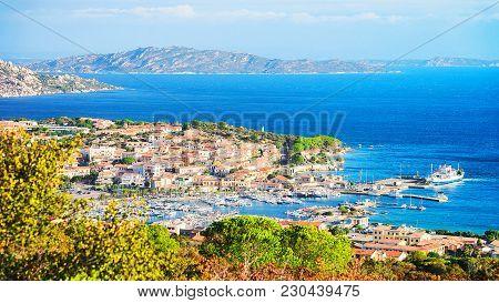 Landscape Of Palau Maddalena Island In Costa Smeralda Resort In Mediterranean Sea, Sardinia, Italy