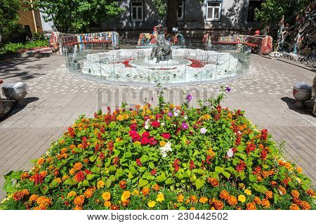Saint- Petersburg, Russia - July 10, 2016: Mosaic Fountain At The Courtyard Of Minor Academy Of Art