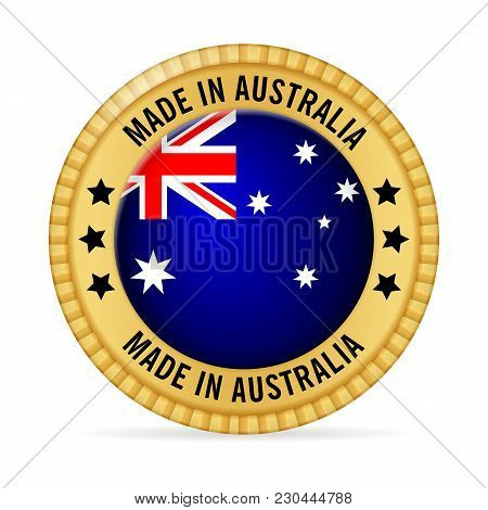 Icon Made In Australia On A White Background.