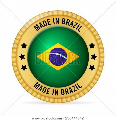 Icon Made In Brazil On A White Background.