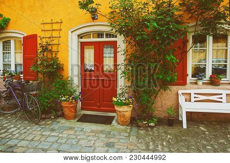 Bamberg, Germany - May 9, 2013: Decoration Of The House In The City Center In Old Bamberg In Upper F