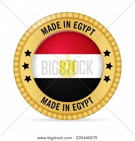 Icon Made In Egypt On A White Background.