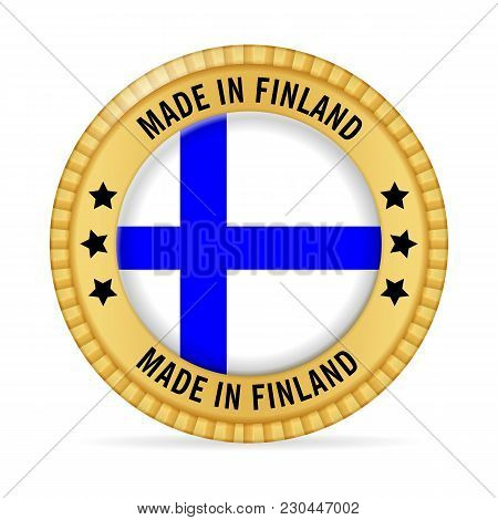 Icon Made In Finland On A White Background.