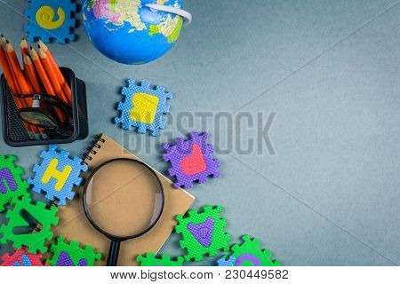 Education Concept And Toy Study Kid