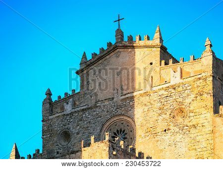 Main Church Chiesa Madre At Erice, Sicily Island, Italy
