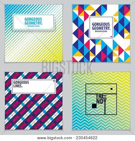 Abstract Minimal Geometric Designs Background For Business Annual Reports, Book Covers, Brochures, F