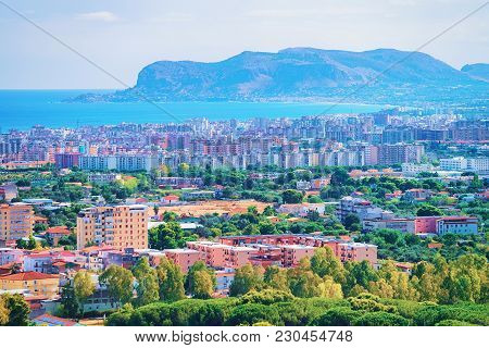 Scenery With Cityscape And Landscape Of Palermo, Sicily, In Italy