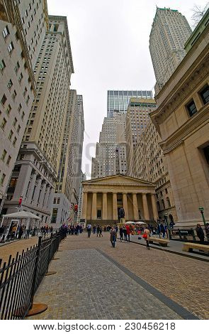 New York, Usa - April 24, 2015: New York Stock Exchange On Wall Street Of Lower Manhattan, The Us. I
