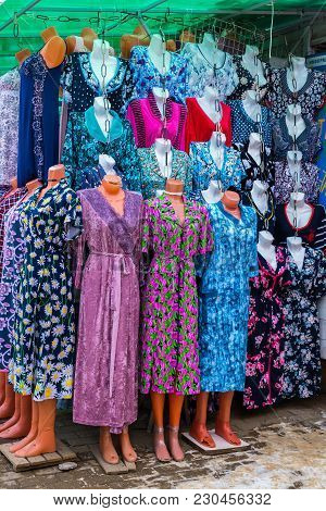 Women's Home Gowns In Mannequins On Market