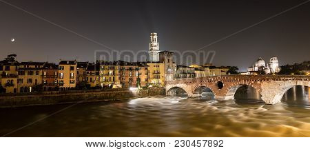 Ponte Pietra (stone Bridge) - 1st Century B.c., Adige River, The Church Of San Giorgio In Braida And