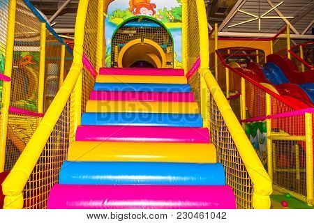 Kyiv, Ukraine - January 28, 2018: Children's Entertainment Center Guliveria In The Shopping Center G