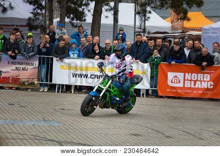 Prague, Czech Republic - 09.03.2018: Motorcycle Show On Motorcycle Exhebition In Brno, Czech Republi