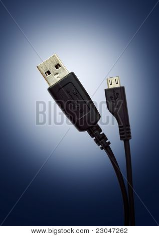 Two black cable