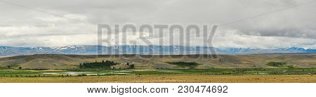 Altai Mountains Panorama View Landscape. Siberia, Russia.
