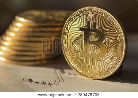 Future Money Bitcoin (digital Currency) - Stock Image
