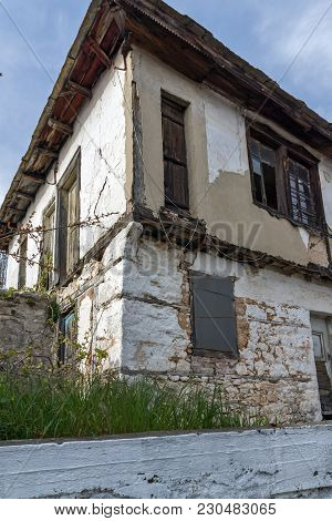 Old Stone House In The Village Of Theologos, Thassos Island, East Macedonia And Thrace, Greece