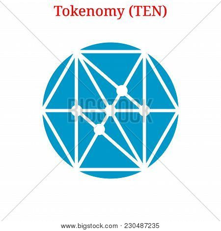 Vector Tokenomy (ten) Digital Cryptocurrency Logo. Tokenomy (ten) Icon. Vector Illustration Isolated