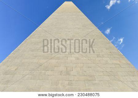 Washington Monument  close up - Washington DC United States