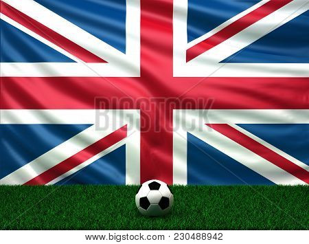 Soccer Ball With The Flag Of United Kingdom