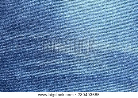 Navy Blue Denim Background Closeup. Jeans Texture