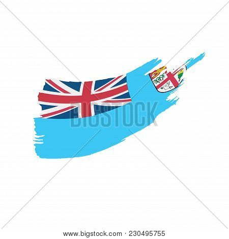 Fiji Flag, Vector Illustration On A White Background