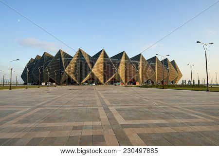 Baku, Azerbaijan - December 29, 2017: View Of The Baku Crystal Hall Sports And Concert Complex In Th