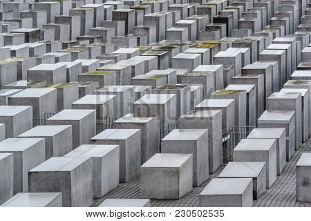 BERLIN, GERMANY - SEPTEMBER 18, 2013: The Memorial to the Murdered Jews of Europe.