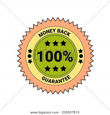Money Back Guarantee Badge Isolated Icon Business Seal Vector Illustration