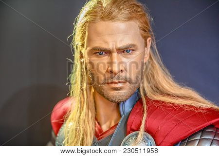 Tokyo, Japan - April 20, 2017: Portrait Of Thor, The God Of Thunder Model With From Age Of Heroes Mo