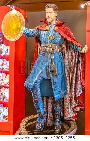 Tokyo, Japan - April 20, 2017: Doctor Strange, Tibetan Magician Model From Age Of Heroes Movie At Mo