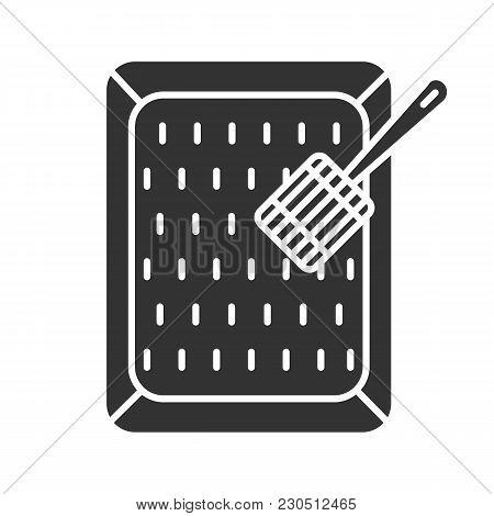 Cat's Litter Box Glyph Icon