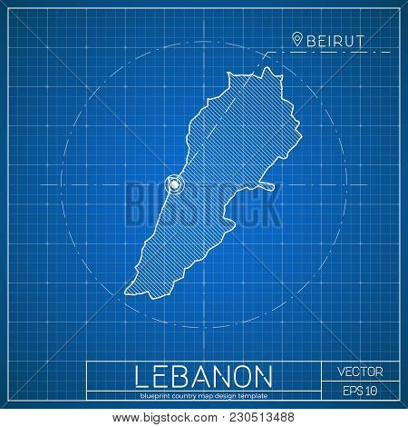 City blueprint images illustrations vectors free bigstock lebanon blueprint map template with capital city beirut marked on blueprint lebanese map vector malvernweather Image collections