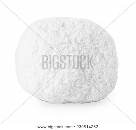 Lump Of Salt Isolated On White Background