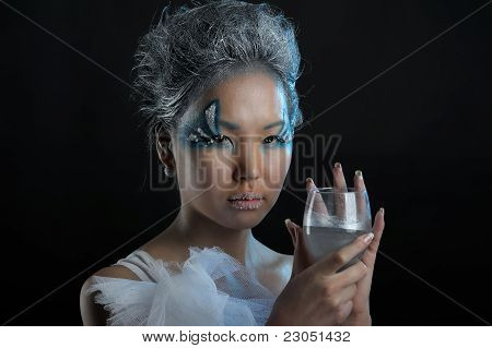 Portrait Of Woman With Makeup
