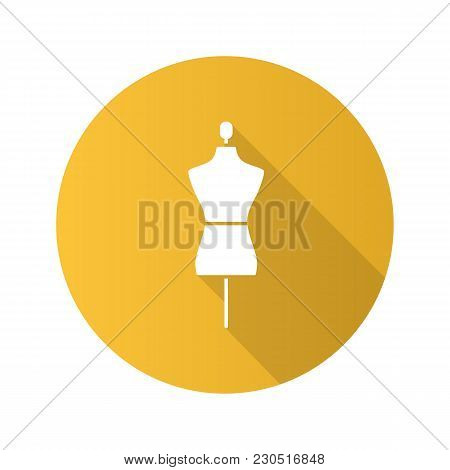 Mannequin Flat Design Long Shadow Glyph Icon