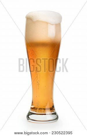 Pint Of Beer Isolated With Clipping Path