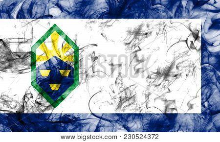 Colorado Springs City Smoke Flag, Colorado State, United States Of America
