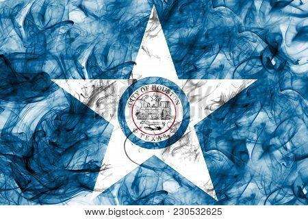 Houston City Smoke Flag, Texas State, United States Of America