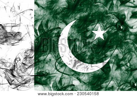 Pakistan Smoke Flag On A White Background