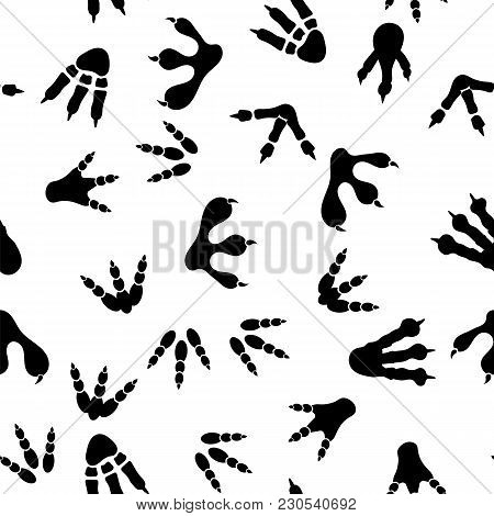 Set Of Different Prints Isolated On White Background. Seamless Pattern