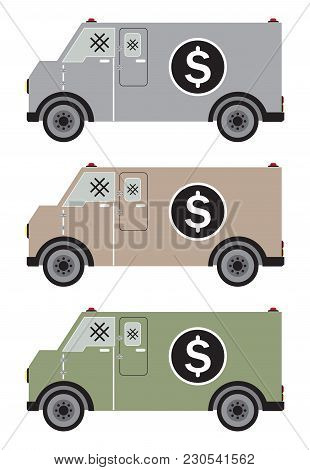 Money Delivery Van Or Armored Van
