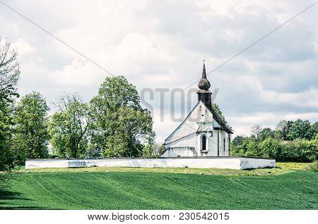Chapel Of Our Mother God Near Veveri Castle, Moravia, Czech Republic. Religious Architecture. Travel