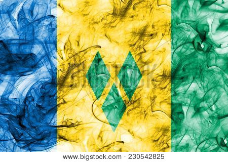 Saint Vincent And The Grenadines Smoke Flag