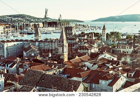 Trogir Is A Historic Town And Harbor On The Adriatic Coast In Split-dalmatia County, Croatia. Travel