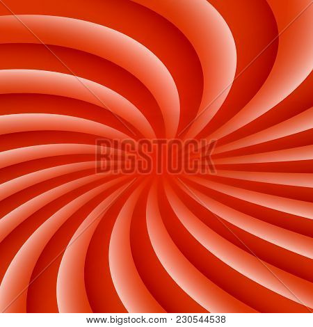White And Red Rotating Hypnosis Spiral. Optical Illusion. Hypnotic Psychedelic Vector Illustration.