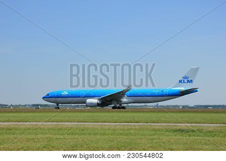 Amsterdam, The Netherlands - June 12 2015:  Ph-aka Klm Royal Dutch Airlines Airbus A330-300  Takes O