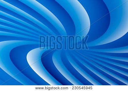 Blue And White Rotating Hypnosis Spiral. Optical Illusion. Hypnotic Psychedelic Vector Illustration.