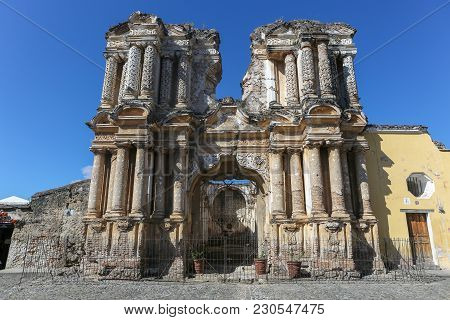 An Old Church In Antigua Guatemala Central America
